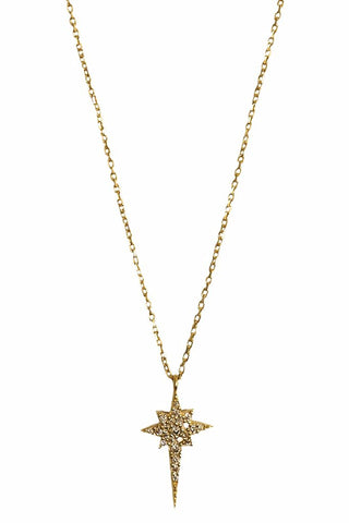 Ice Pick Star Necklace Gold