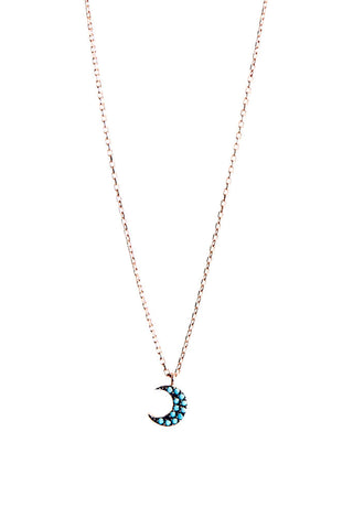 Turquoise Moon Crescent Necklace