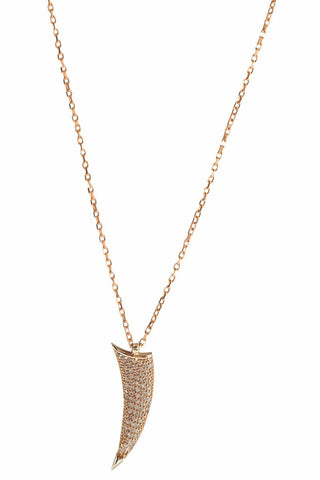 Tusk Necklace Rose Gold