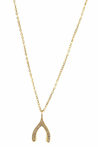 Make A Wish Necklace Gold