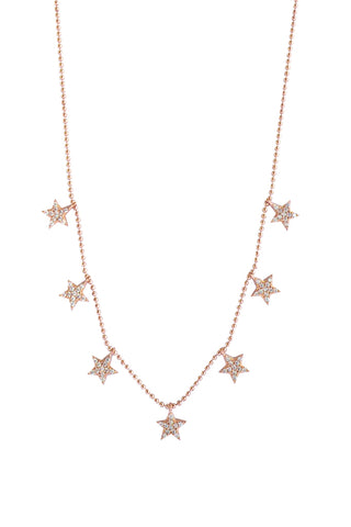Stardust Necklace Rose Gold