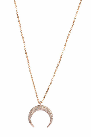 Maya Moon Necklace Rose Gold
