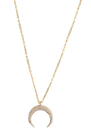 Maya Moon Necklace Gold