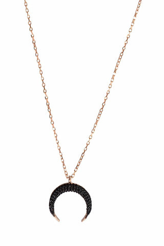 Black Maya Moon Necklace