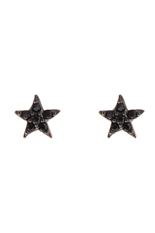 Black Mini Star Ear Studs