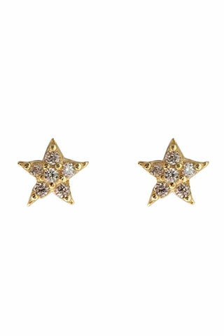 Mini Star Ear Studs Gold