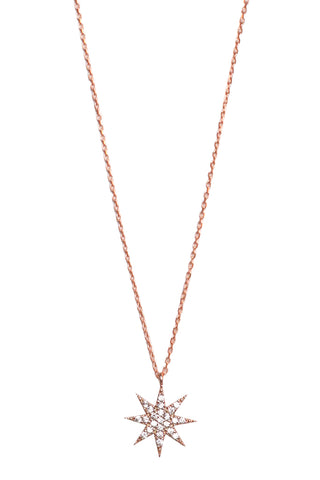 Lamat Star Necklace Rose Gold
