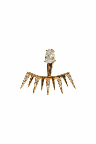 Spiked Ear Jacket Gold