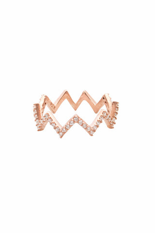 Flash Zig Zag Ring