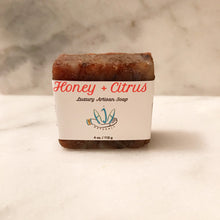 Honey + Citrus - Rustic Artisan Soap  *NON-Vegan*