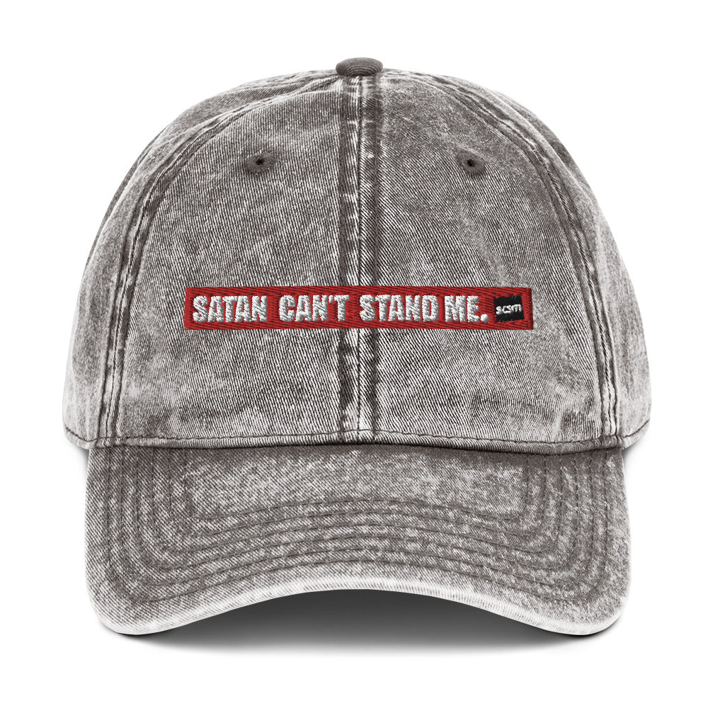 Vintage Satan Can't Stand Me Cotton Cap
