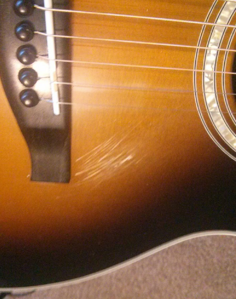 Acoustic Guitar-BEFORE POLISHING