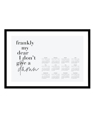 2020 Frankly My Dear Calendar - Olive et Oriel