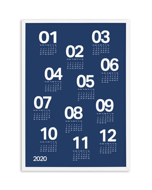 2020 Scatter Calendar | Colour (6 Colour Options) - Olive et Oriel
