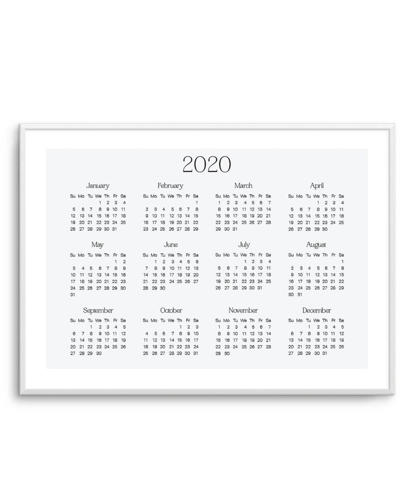 2020 Simple & Chic Calendar - Olive et Oriel