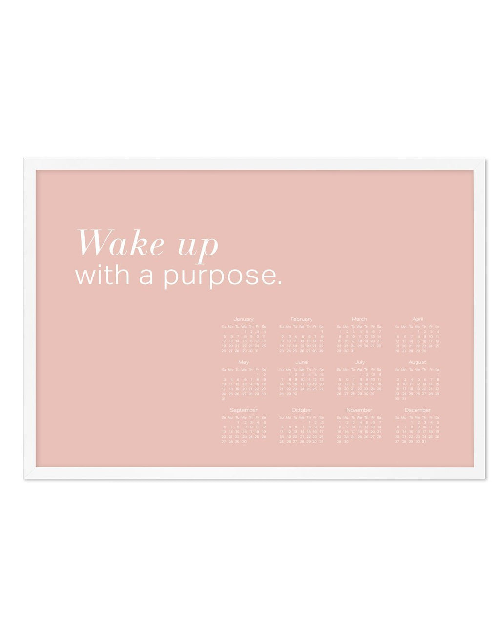 2020 Wake Up With A Purpose Calendar - Olive et Oriel