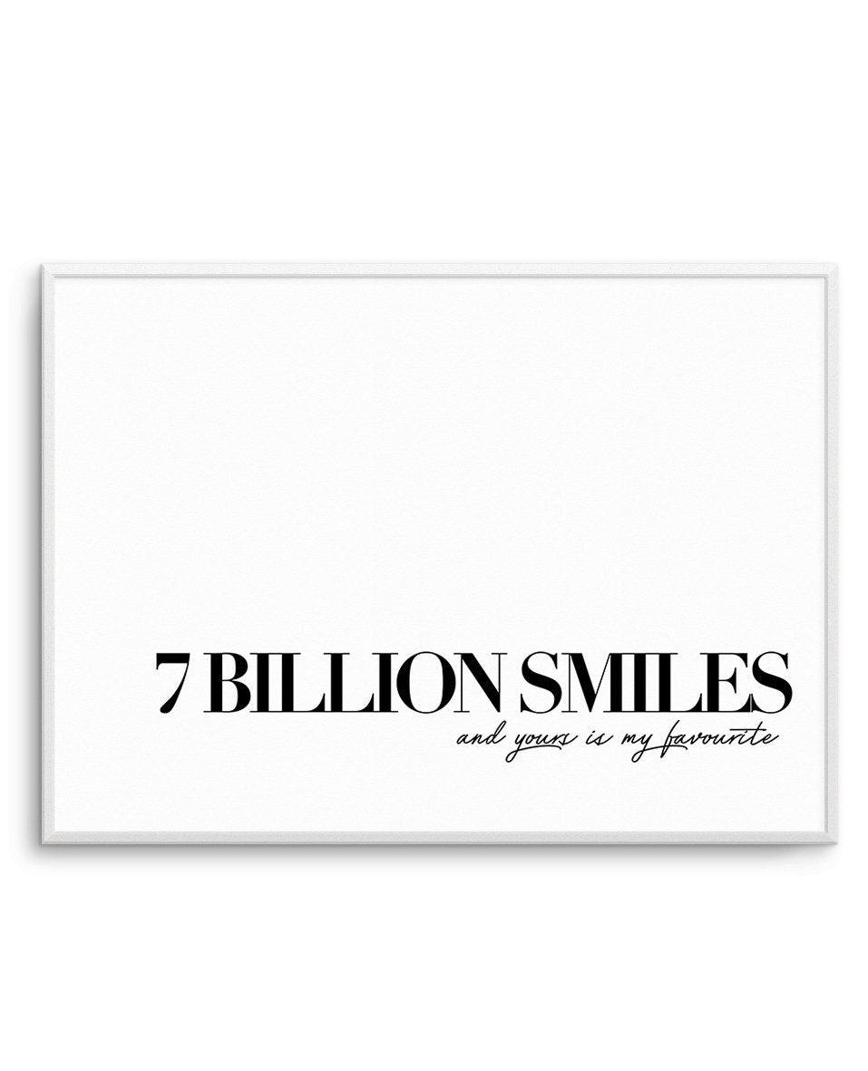 7 Billion Smiles - Olive et Oriel | Shop Art Prints & Posters Online