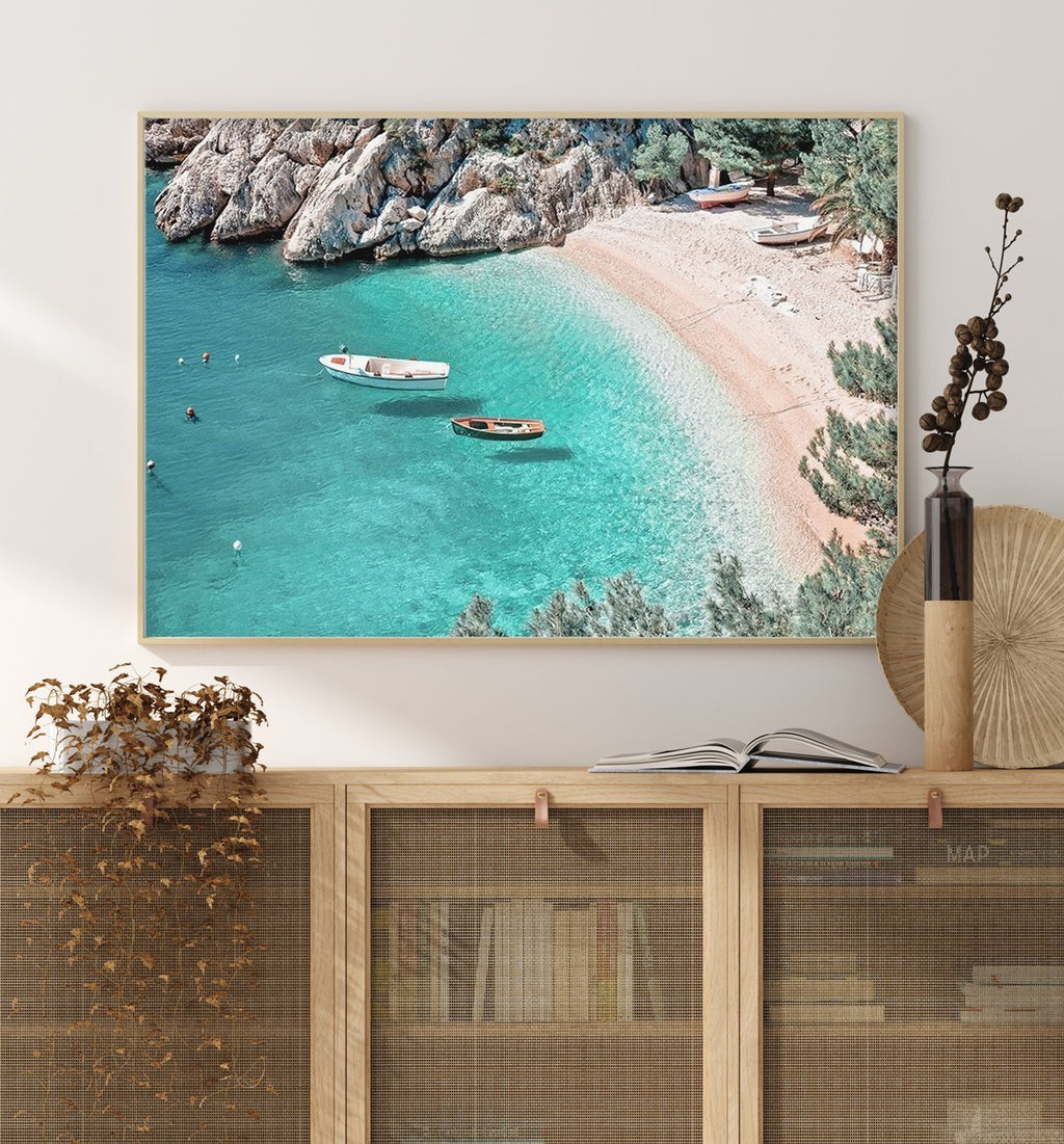 70x100 Le Petit Port framed in Solid Timber (SAVE $50!) - Olive et Oriel