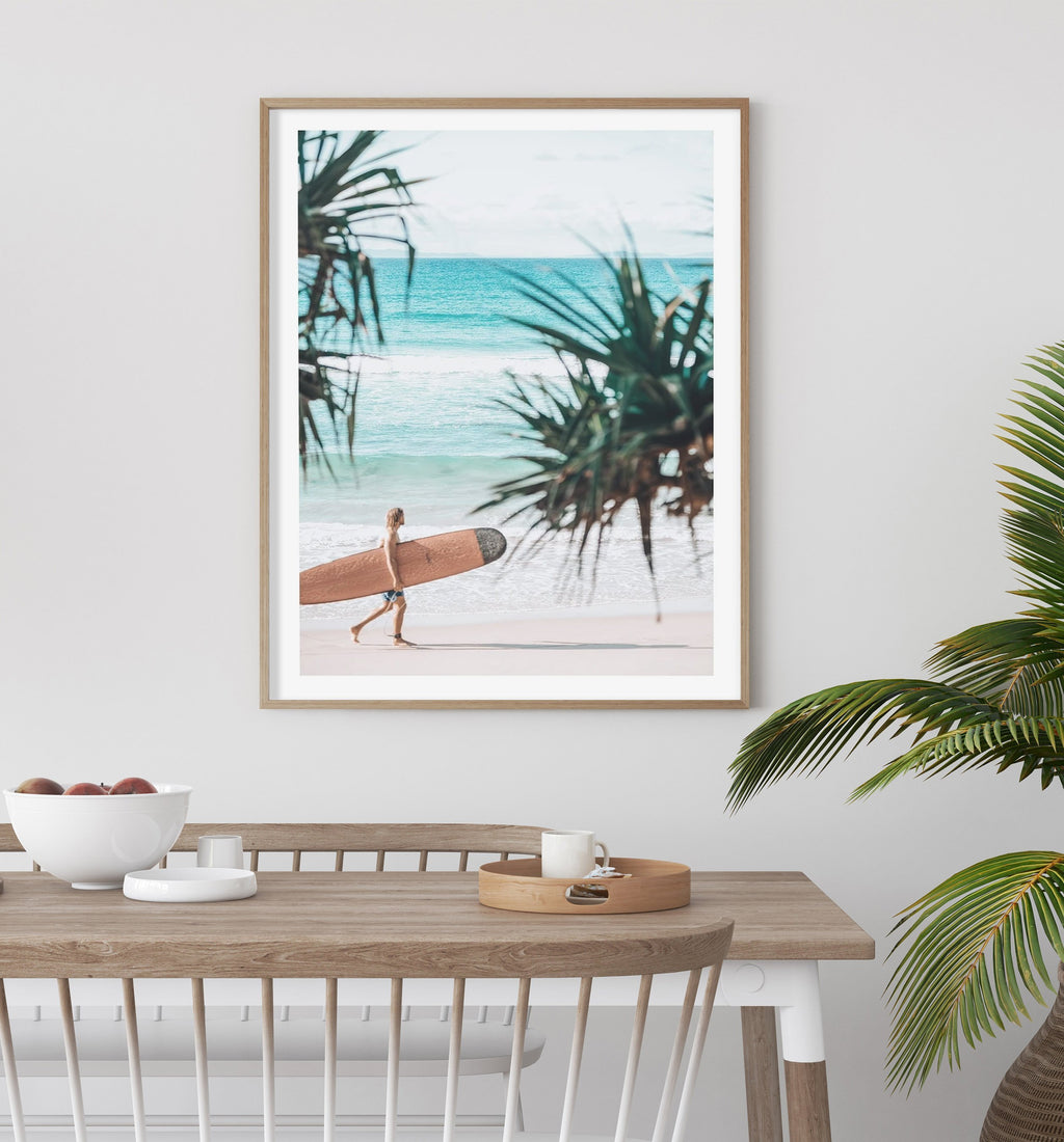 70x100 Mal Rider | Wategos framed in Solid Timber (SAVE $50!) - Olive et Oriel