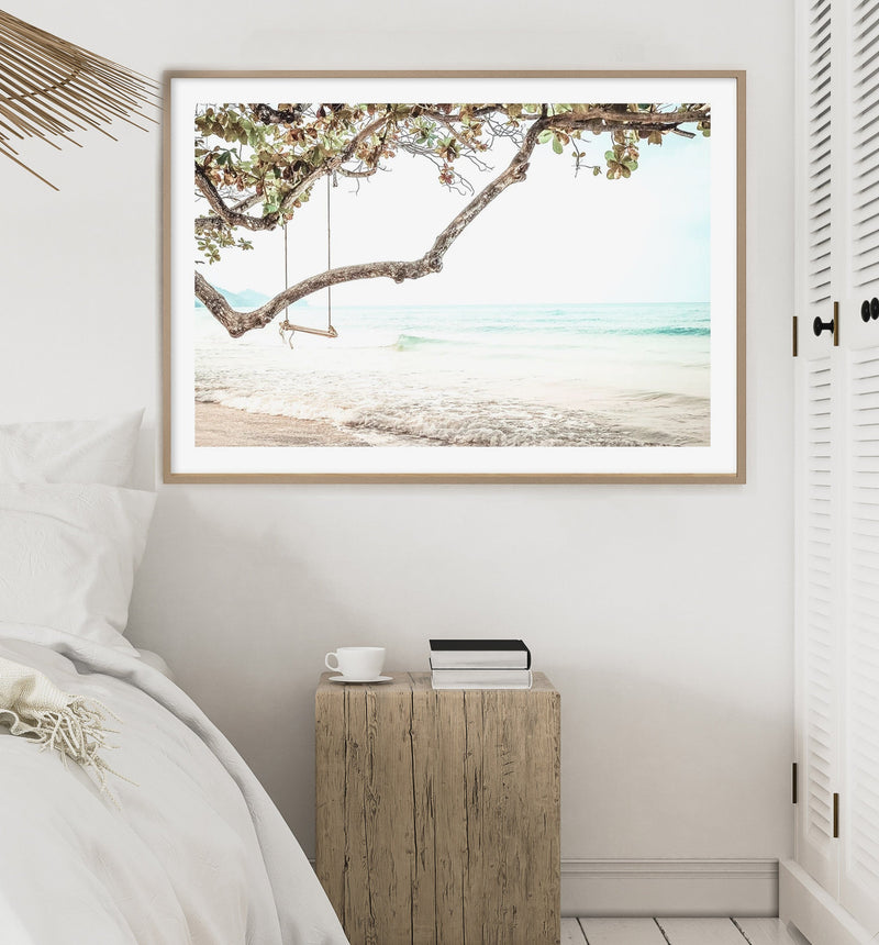 70x100 Seaside Bliss framed in Solid Timber (SAVE $50!) - Olive et Oriel