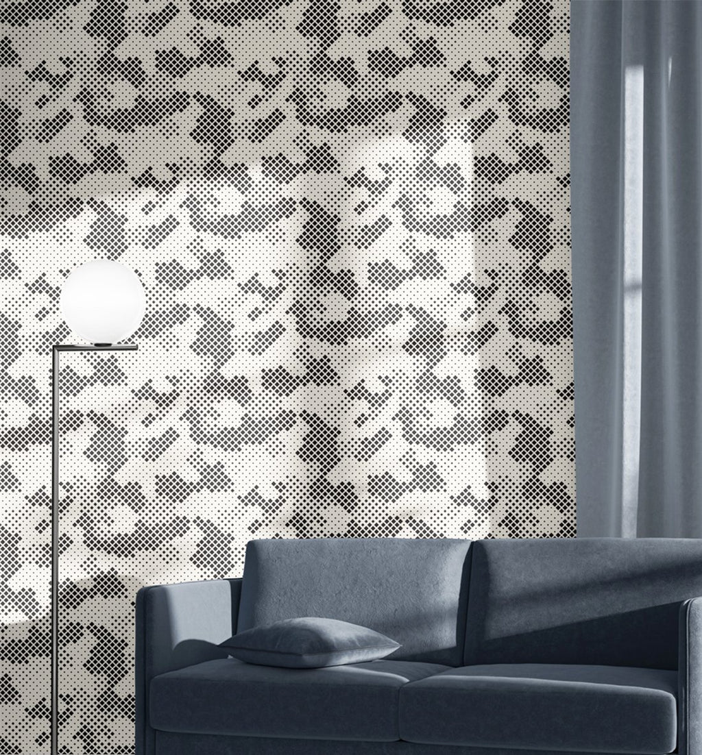 Abstract Camouflage Wallpaper - Olive et Oriel