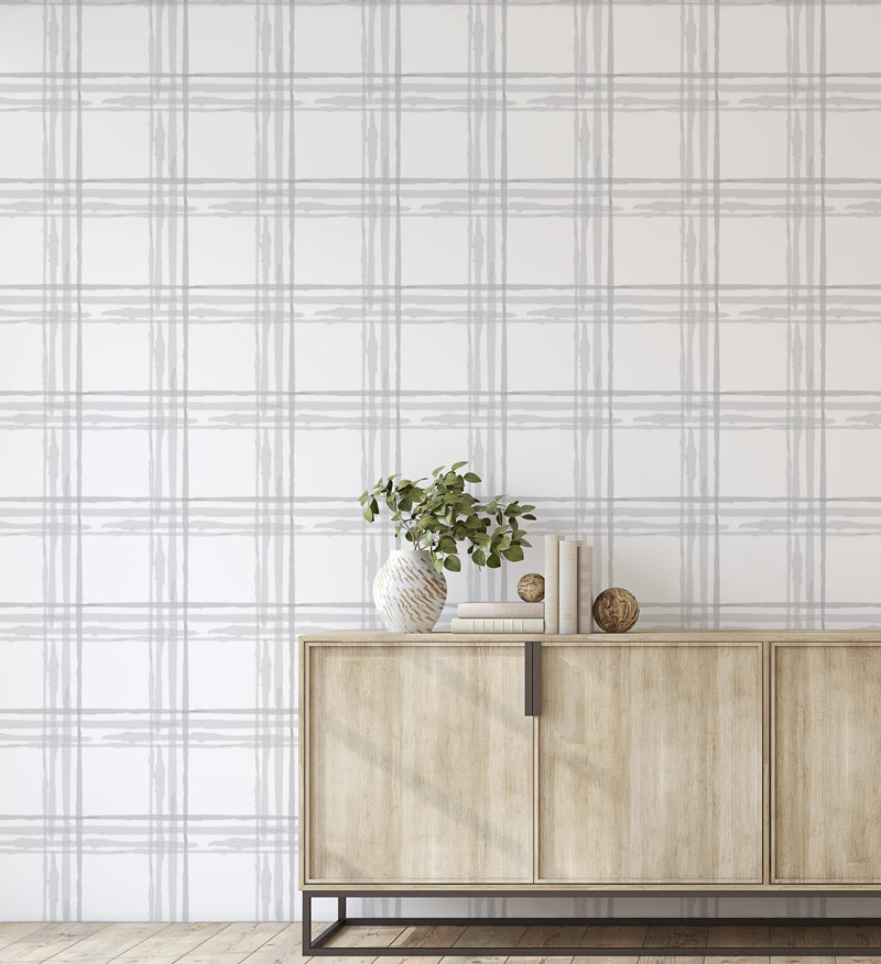 Abstract Check Wallpaper - Olive et Oriel