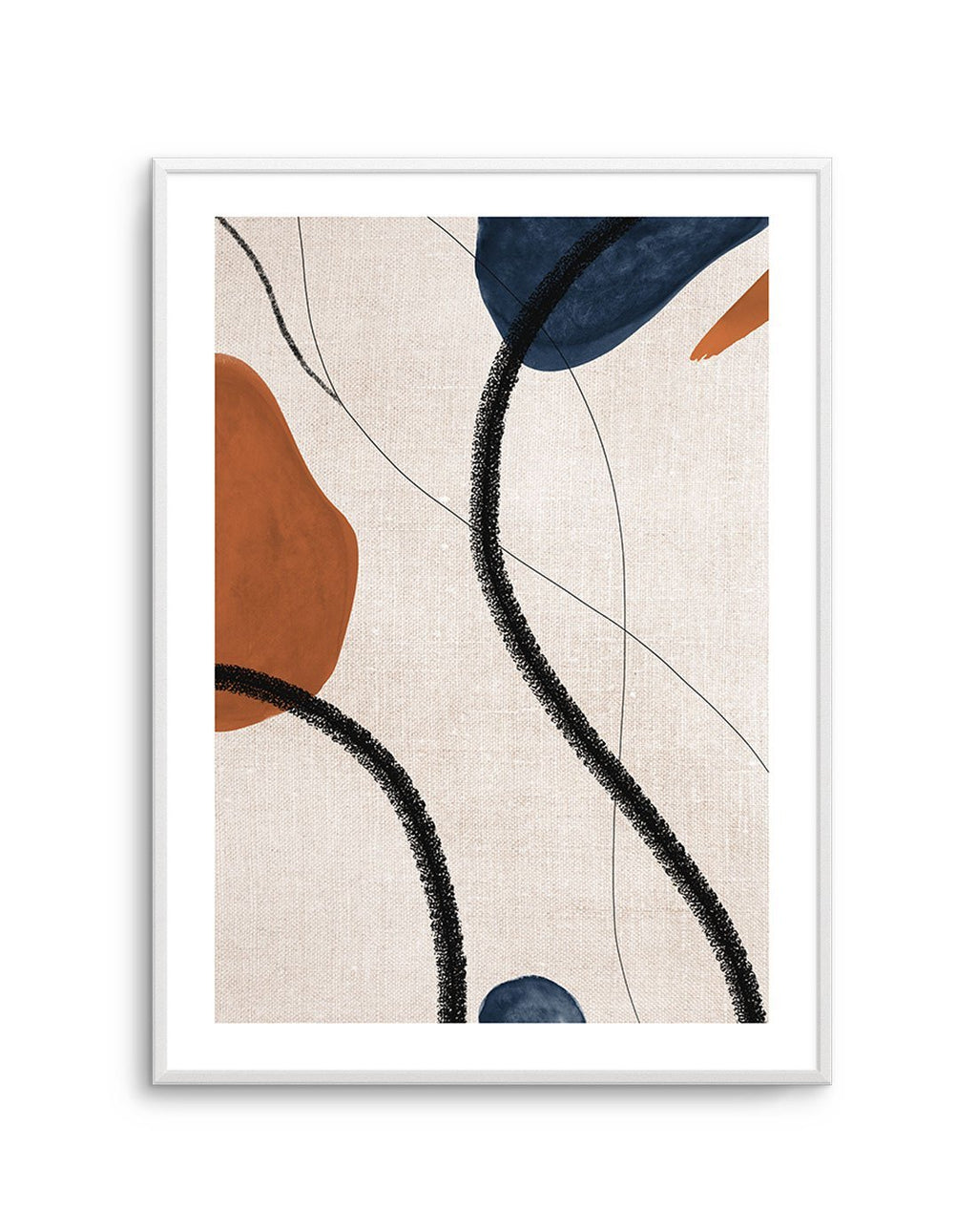 Abstract on Linen I - Olive et Oriel