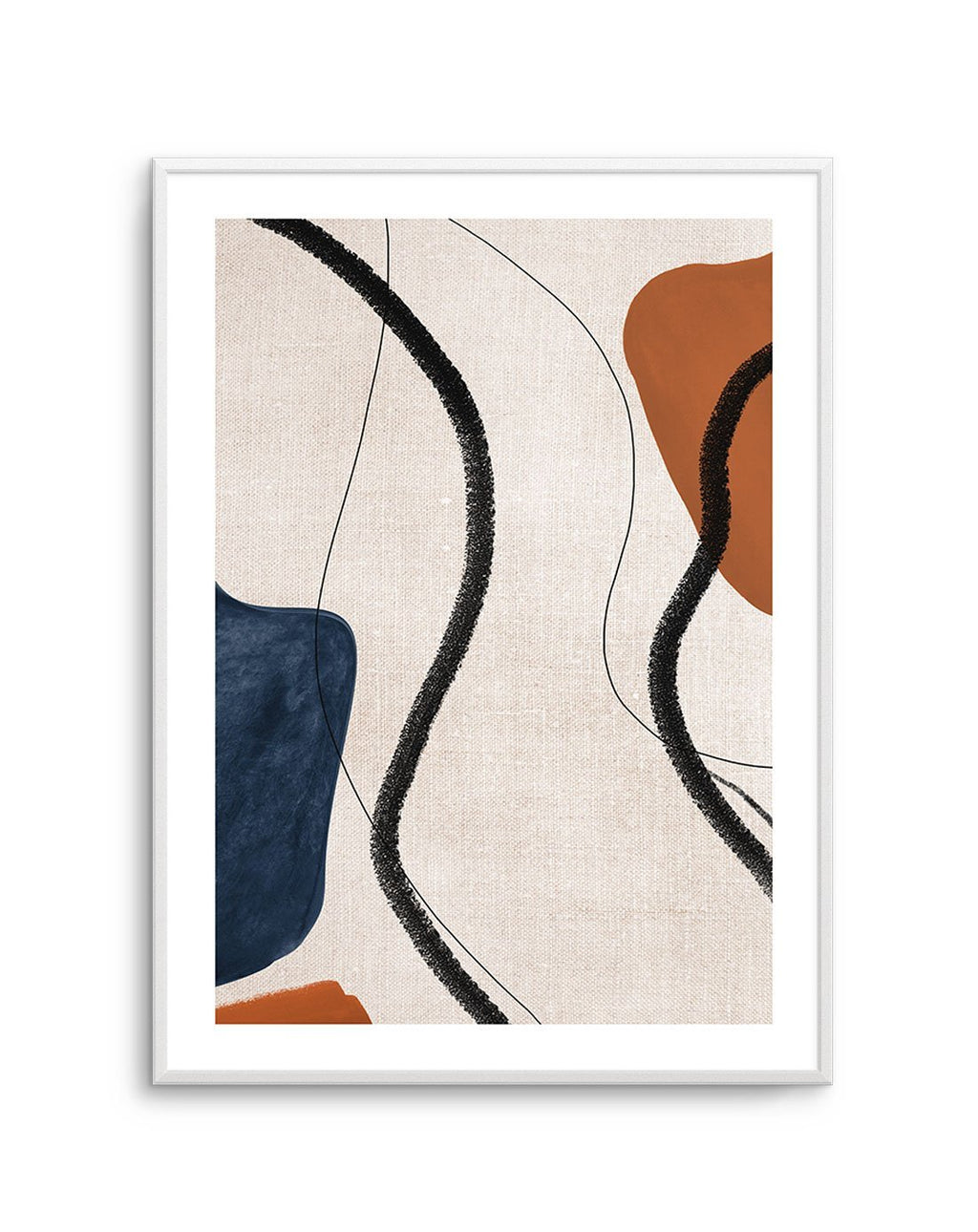Abstract on Linen II - Olive et Oriel
