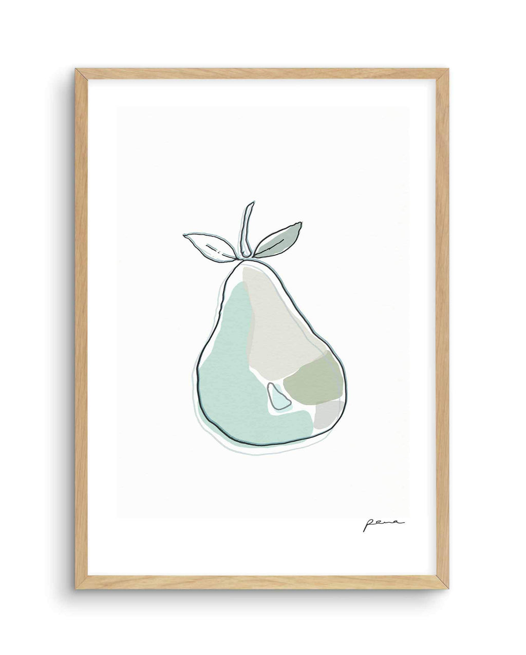 Abstract Pear - Olive et Oriel