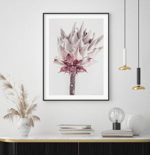 Abstract Protea No III - Olive et Oriel