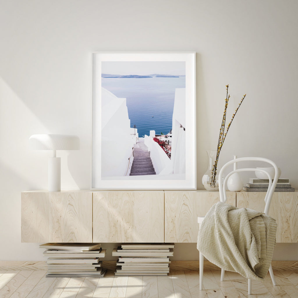 Aegean Views | Santorini - Olive et Oriel | Shop Art Prints & Posters Online