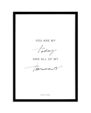 All Of My Tomorrows | Hand scripted - Olive et Oriel | Shop Art Prints & Posters Online