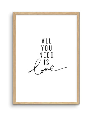 All You Need Is Love - Olive et Oriel | Shop Art Prints & Posters Online