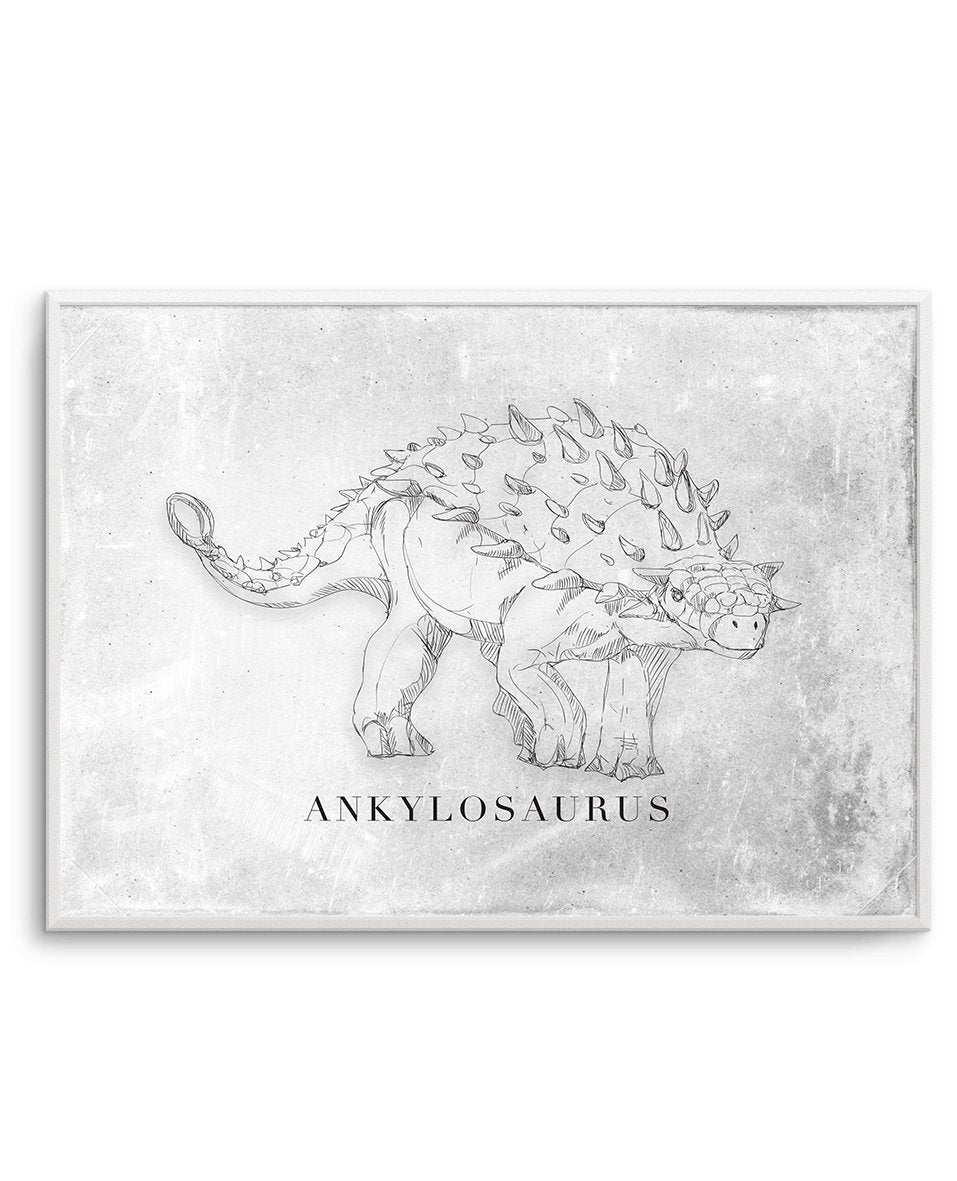Ankylosaurus LS | Dinosaur Collection - Olive et Oriel | Shop Art Prints & Posters Online