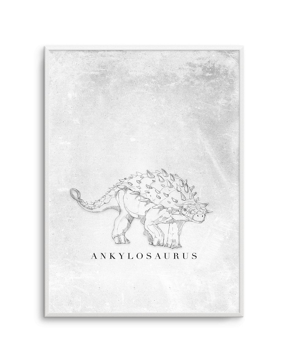 Ankylosaurus PT | Dinosaur Collection - Olive et Oriel | Shop Art Prints & Posters Online