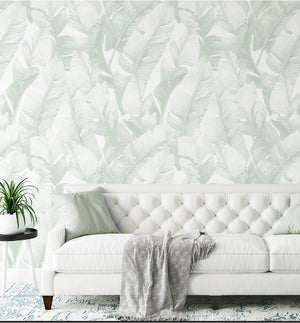 Banana Leaf Palms | Green Wallpaper - Olive et Oriel