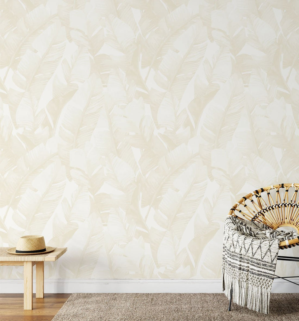 Banana Leaf Palms | Sand Wallpaper - Olive et Oriel
