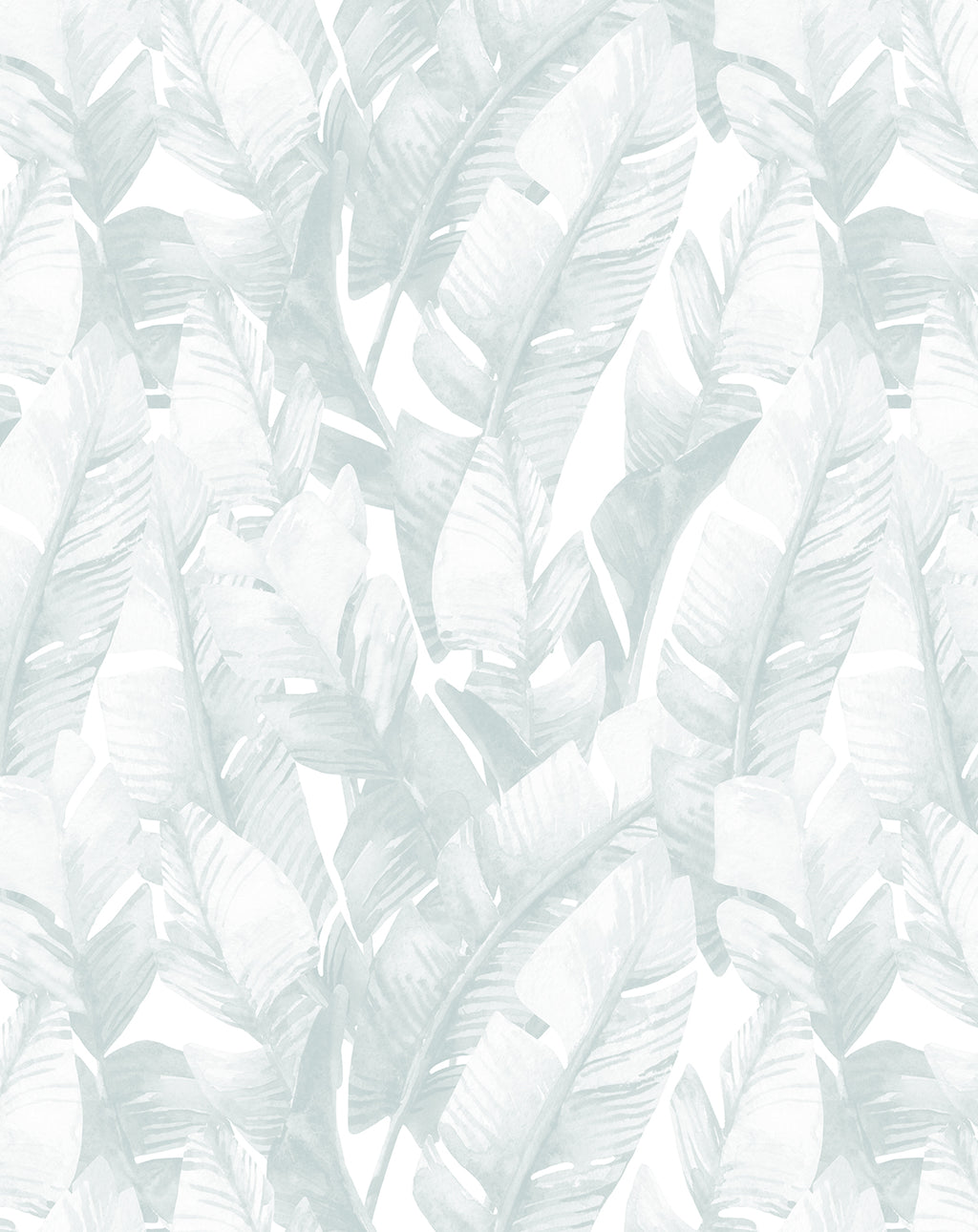Banana Leaf Palms | Seafoam Wallpaper