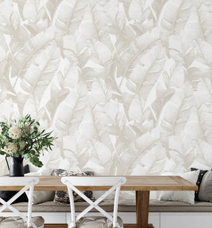 Banana Leaf Palms | Sepia Wallpaper - Olive et Oriel