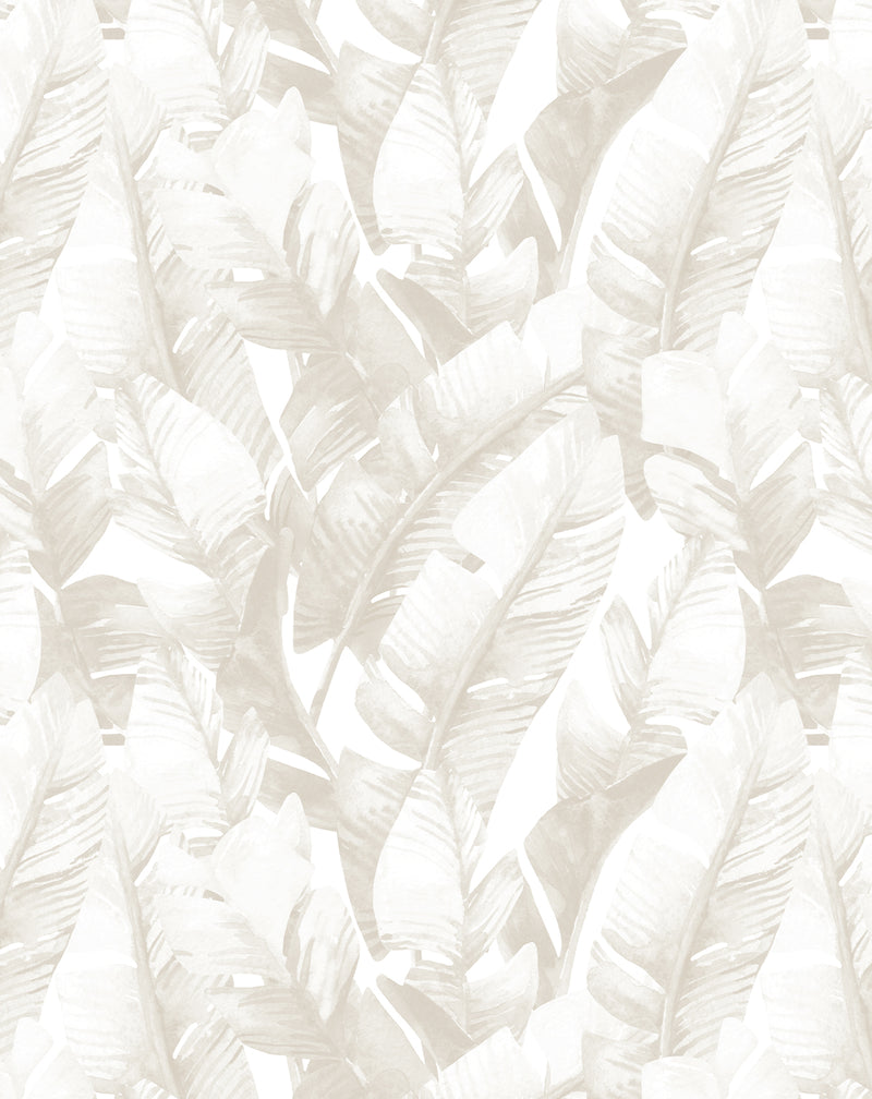 Banana Leaf Palms | Sepia Wallpaper