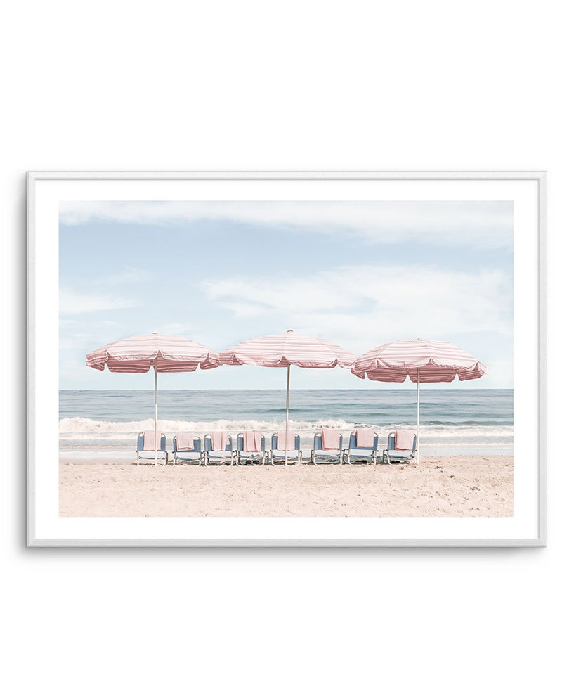 Beach Days | Pink Umbrellas - Olive et Oriel
