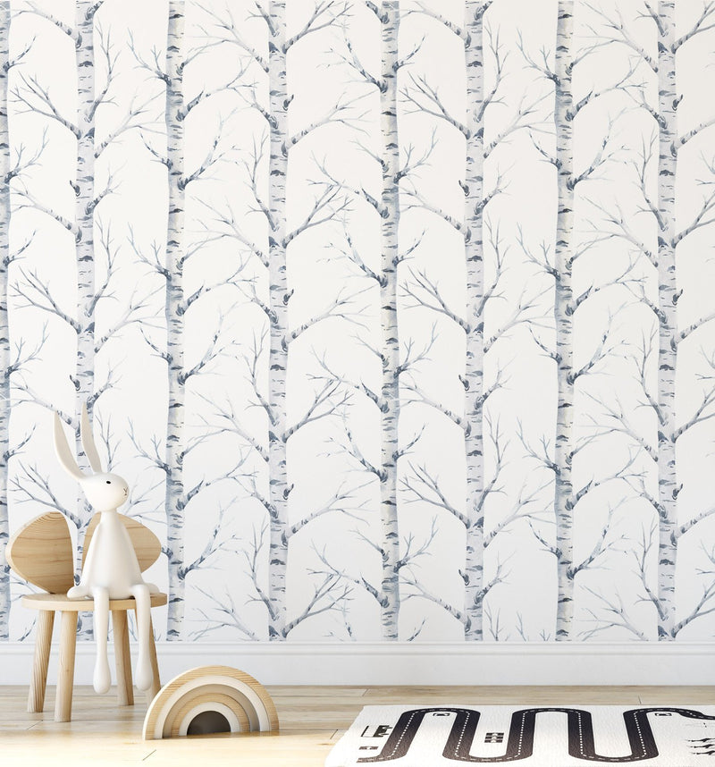 Birch Trees Forest Wallpaper - Olive et Oriel