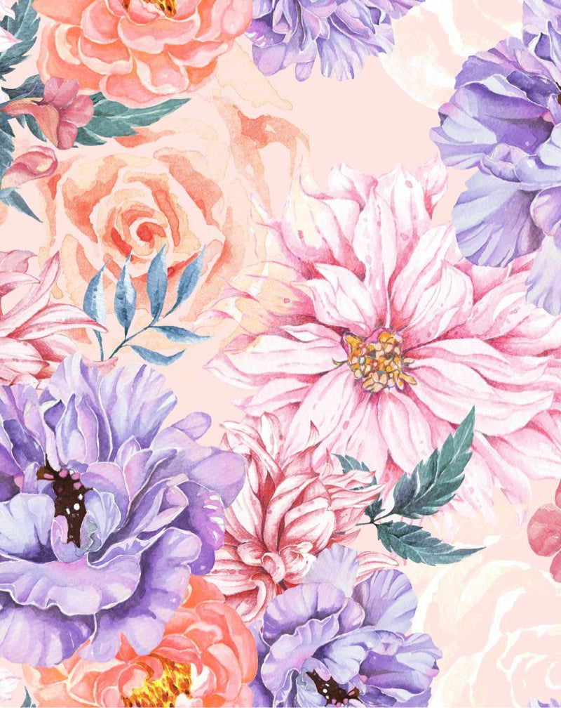 Blooming Brightly Wallpaper - Olive et Oriel