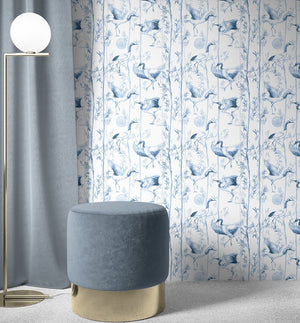 Blue Bamboo Wallpaper - Olive et Oriel