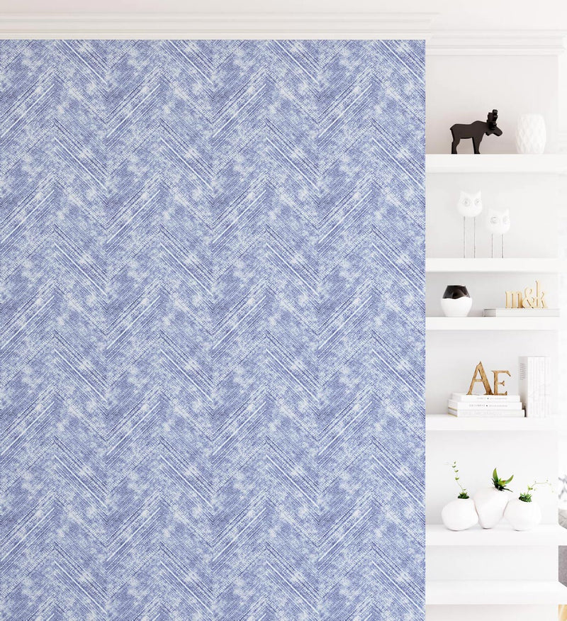 Bohemian Chevron | Denim Wallpaper - Olive et Oriel
