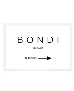 BONDI BEACH - THIS WAY - Olive et Oriel | Shop Art Prints & Posters Online