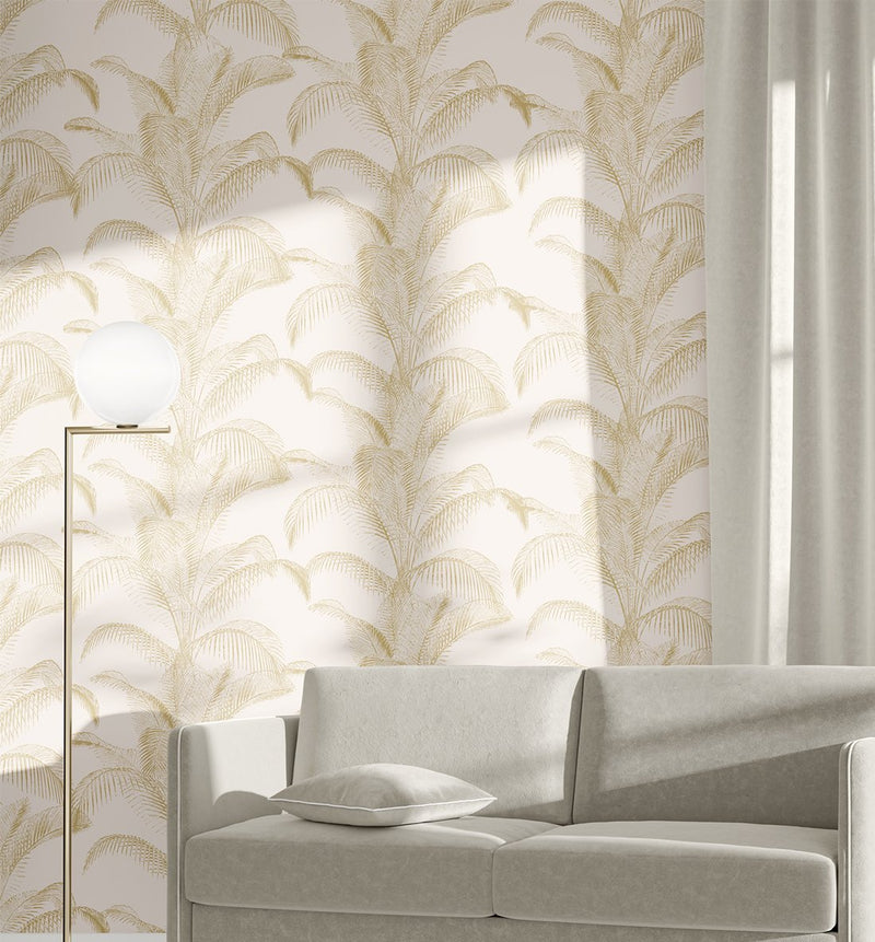 Bronzed Palms Wallpaper - Olive et Oriel