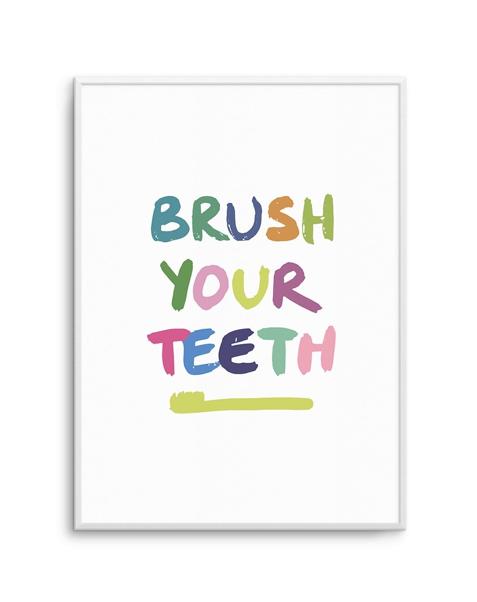 Brush Your Teeth - Olive et Oriel | Shop Art Prints & Posters Online