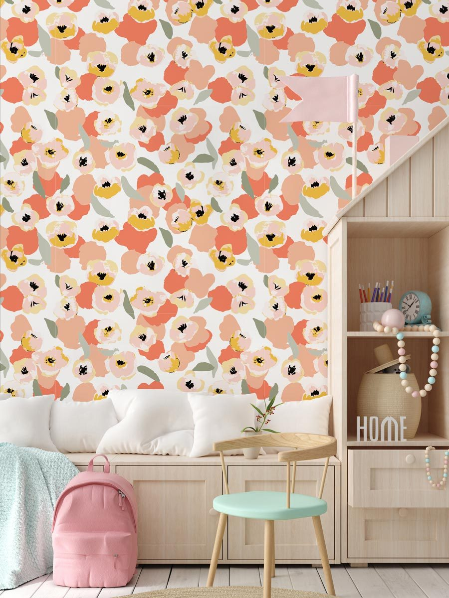 Californian Flowers Wallpaper - Olive et Oriel
