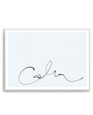 Calm | 2 Colour Options - Olive et Oriel | Shop Art Prints & Posters Online